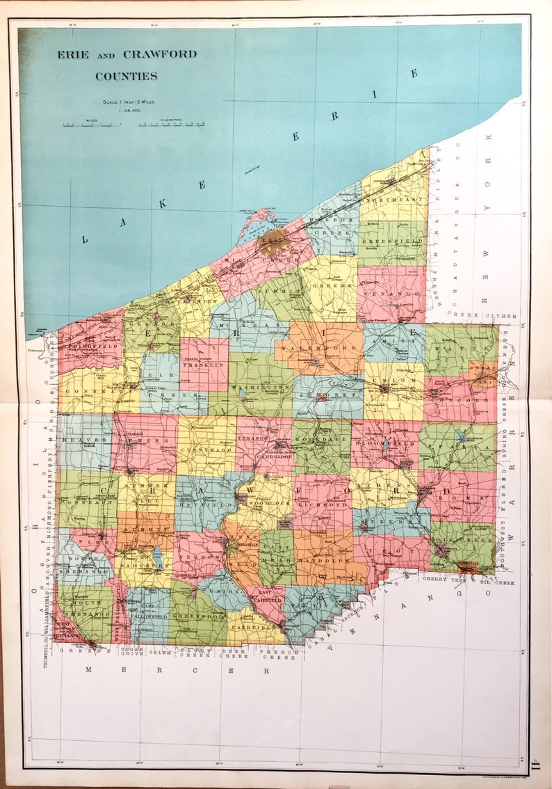 Map Of Erie County Pa on