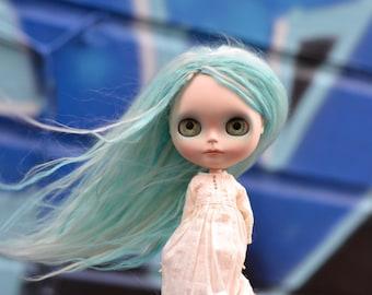 Elsa, a customized Blythe doll by Rachel K
