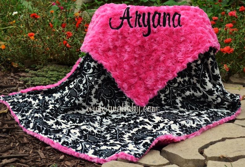 2a9b836a4b5 Baby Girl Blanket Personalized Blanket MonogramDynasty