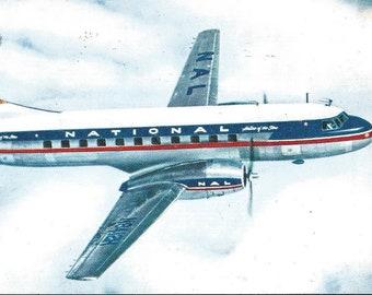 NATIONAL AIRLINE BASEBALL CAP SUN KING LOGO AIRPLANE PILOT COLLECTIBLE GIFT NEW