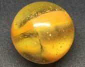 Peltier Rainbo Swirl Marble - Near Mint(-) - Transparent Orange - 19 32 Inches