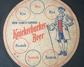 New York 39 s Famous Knickerbocker Beer Serving Tray Liner - Jacob Ruppert Brewery Advertisng
