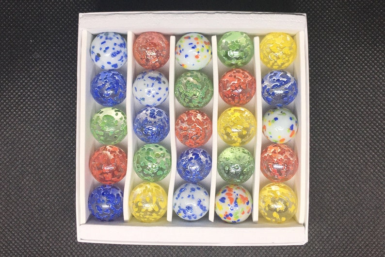 Stardust Assorted Speckled Marbles Others Fairy Boxed Set 25 Collector Quality Marbles Vacor MEGA MARBLE Lot Stellaris