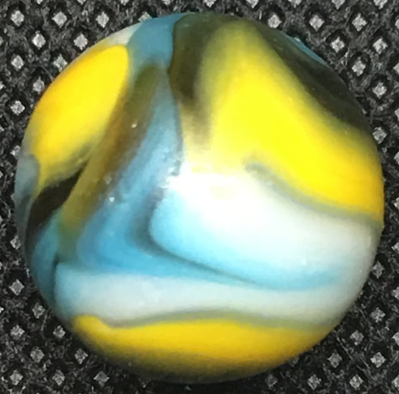 58 Inches Peltier Multicolor Rainbow Swirl Marble Near Mint