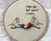 Crazy Bird Hand Embroidery