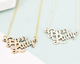 Boss Lady Necklace • Working Mom Necklace • Boss Necklace • Mompreneur Necklace • Necklace for Moms • Working Woman Necklace • Boss Lady