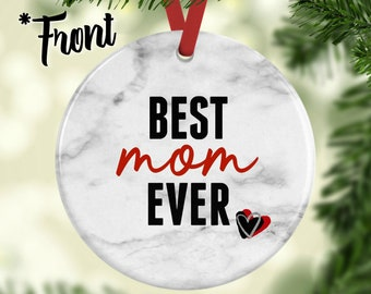 Custom Best mama ever 2020 Christmas wood Ornament Personalized mom mommy gift