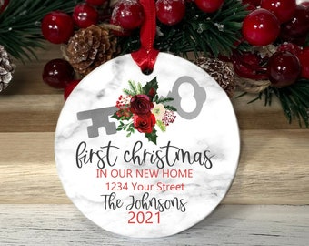 Personalized New Home Ornament for Family   First Home Ornament   Gift for First Homebuyers   New Home Christmas Ornament   Christmas  Gift