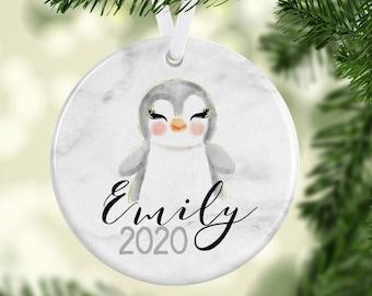 penguin decor Penguin family ornament: penguin Christmas ornament emperor penguin ornament penguin chick Christmas bird ornament peguin