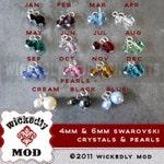 Add On - 6mm Swarovski Crystal charms OR Swarovski Pearl