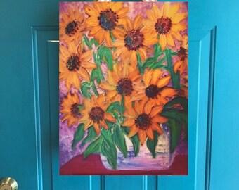 front door flair: sunflowers