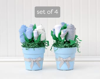 Baby Boy Shower Centerpieces, Boy Baby Shower Package, Baby Table Decoration, Flower Bouquet Centerpiece, Baby Boy Centeriece Set
