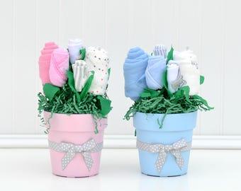 baby shower centerpiece boy girl twins baby shower blue pink etsy