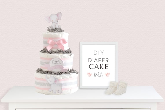 Virtual Baby Shower Decoration Little Peanut Diaper Cake For Baby Girl Elephant Baby Shower By Baby Blossom Company Catch My Party,Pottery Barn Kids Bedroom Set