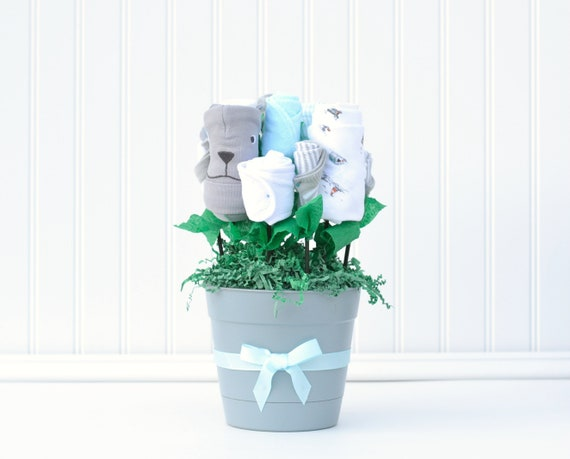 Boy Baby Shower Gift Baby Boy Gift Basket Baby Bouquet Baby