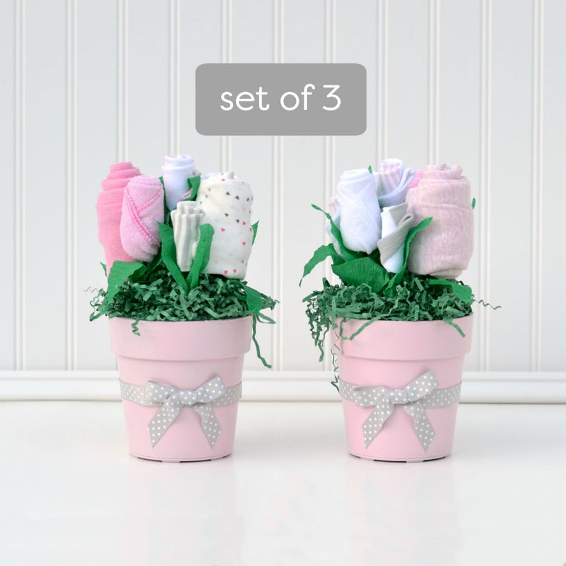 Girl Baby Shower Decor,Baby Girl Shower Centerpieces Unique Baby Shower Decorations Pink Baby Shower Flower Bouquets