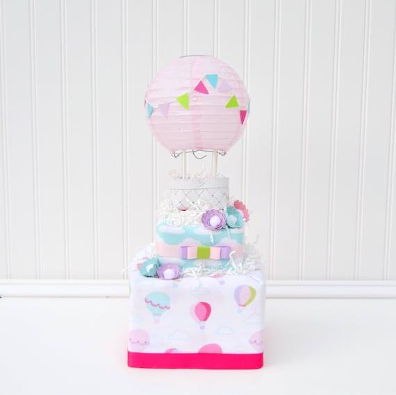 Hot Air Balloon Baby Shower Baby Shower Centerpiece Baby Girl Etsy