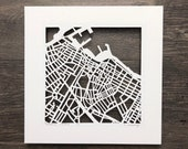 Reykjavik, Cape Town, Sydney or Auckland Hand Cut Map Artwork