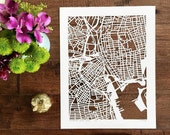 """custom hand cut map, 11""""x14"""", 16""""x20"""" or 22""""x30"""" MARCH completion"""