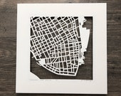 Charleston, Hilton Head, or Beaufort Hand Cut Map Artwork