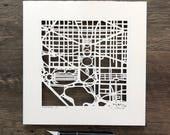 Washington, DC Hand Cut Map ORIGINAL