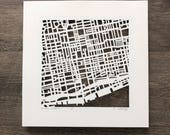 Toronto, Montreal, Halifax, Welland, Ottawa Hand Cut Map ORIGINAL, 10x10