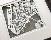 NYC hand cut map ORIGINALS, 10x10
