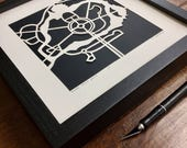 """FRAME for 10""""x10"""" hand cut maps"""