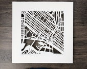 Richmond, Virginia Hand Cut Map Artwork