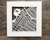 Astoria Hand Cut Map Artwork
