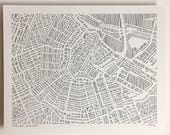 Amsterdam or Cape Town ink print