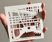Miniature Hand Cut Map ORIGINAL, March completion
