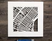 New Orleans, Louisiana Hand Cut Map Original Artwork