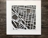 Philadelphia Neighborhood Hand Cut Map Artwork