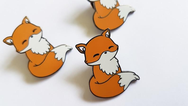 7f2e930d6906 Enamel fox pin kawaii pin cute lapel pin kawaii fox cute