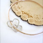 RESERVED FOR AMBER - Mother daughter matching heart bracelet - Mommy and kids heart bracelet, couples bracelet, Rose gold
