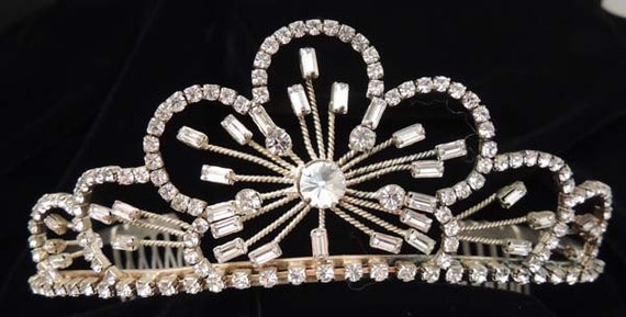 Vintage Tiara Wedding Crown / Crystal Wedding Tiar