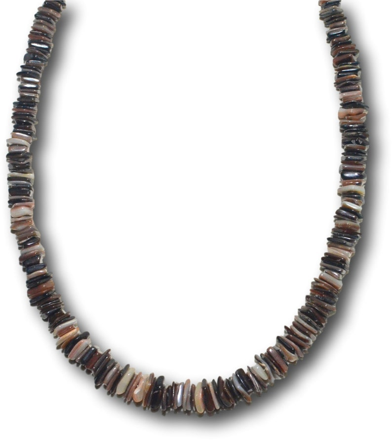 80f2fed6952d4f Native Treasure Mixed Brown Chips Puka Shell Necklace or   Etsy
