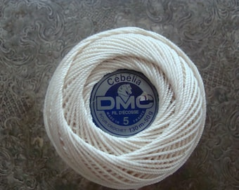 DMC Special Dentelles Crochet No.80 Colour Grey//Pewter Colour Number 3747