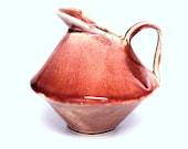 Handmade Ceramic Pitcher, Syrup Server, Pancake Party, handbuilt pottery, gravy boat, stoneware pitcher, pottery jug, unique pitcher