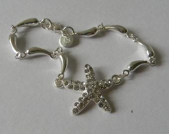 a21d89a9f Bridal Crystal Starfish Charm Bracelet For Bridesmaid Crystal Bracelet-Fancy  Crystal Bracelet for Wedding Wear-Crystal Star Charm Bangle USA