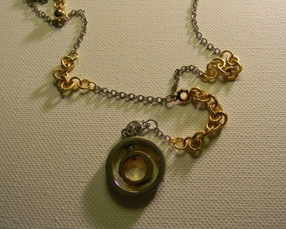Circle Of Life Double Ring Necklace Silver And Gold Double  e215949448