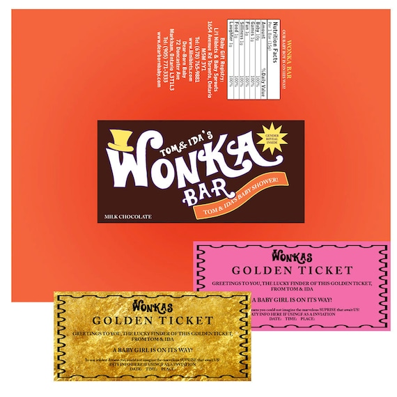 graphic regarding Wonka Bar Printable referred to as Personalized WONKA BAR Kid Shower personalize Printable electronic chocolate bar sweet label invitation willy chocolate manufacturing facility
