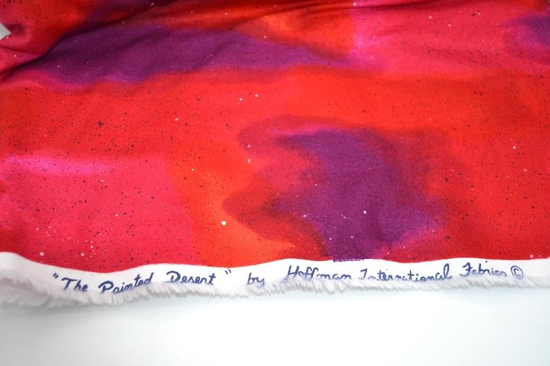 Cotton By the Half Yard Painted Desert Marbled Pink Purple Orange Vintage Hoffman Fabric