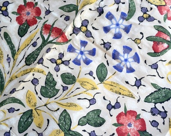 Vintage Bed Sheet - Bohemian Provence Floral - Twin Fitted NOS