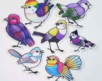 Pride Birds Stickers