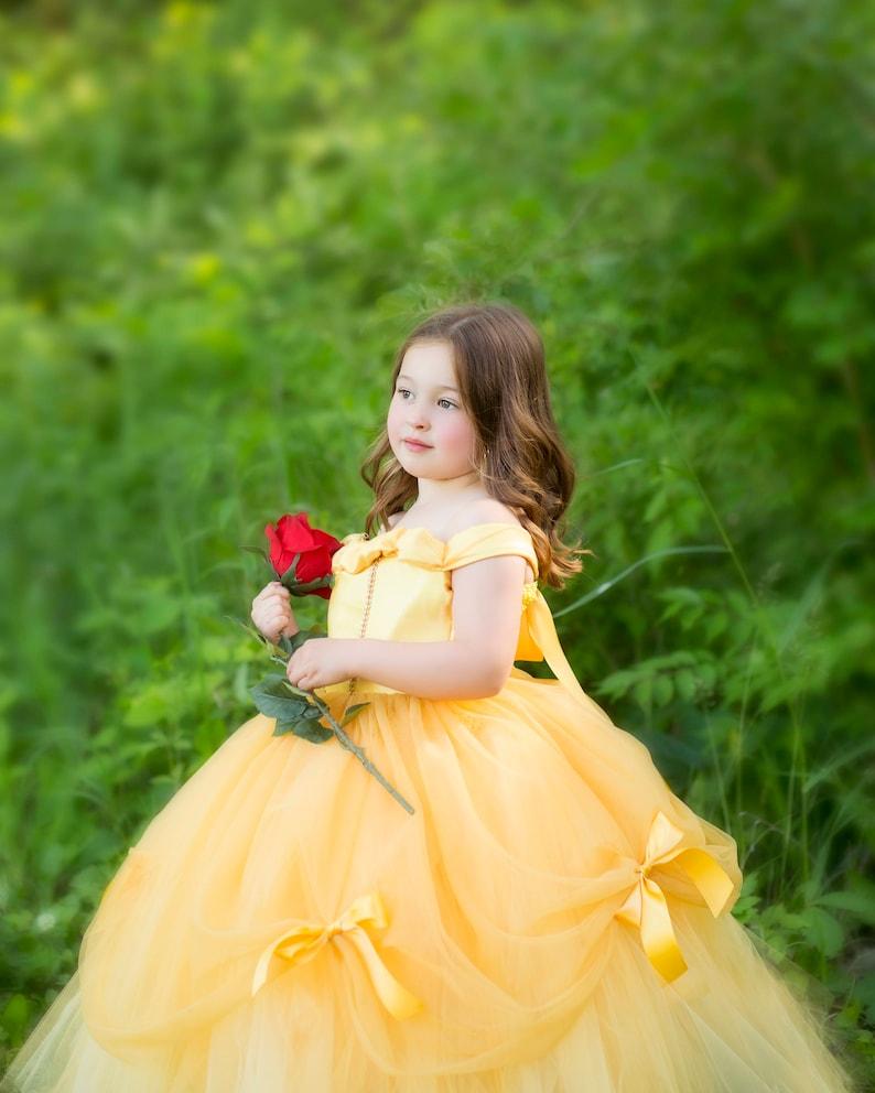 89ee6b748df6 Princesa Belle Tutu Vestido Vestido Dela-Belle Traje-Belleza | Etsy