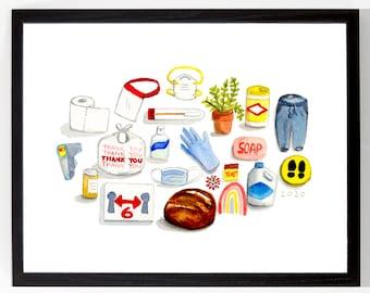Pandemic Objects, 2020. Archival Art Print