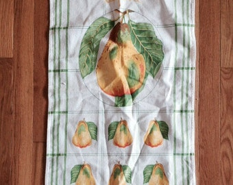 Vintage La Poire Pear Kitchen Towel