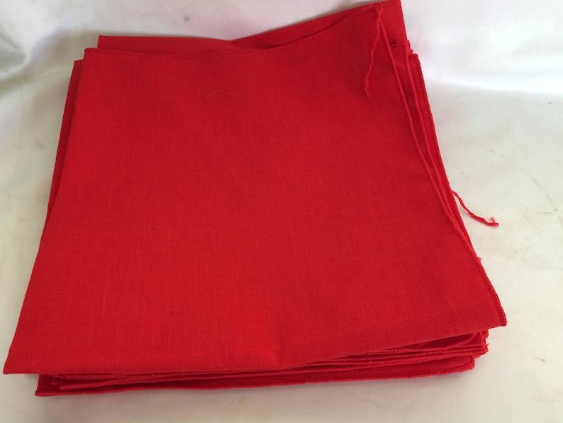 Set of 8 Red Vintage Napkins